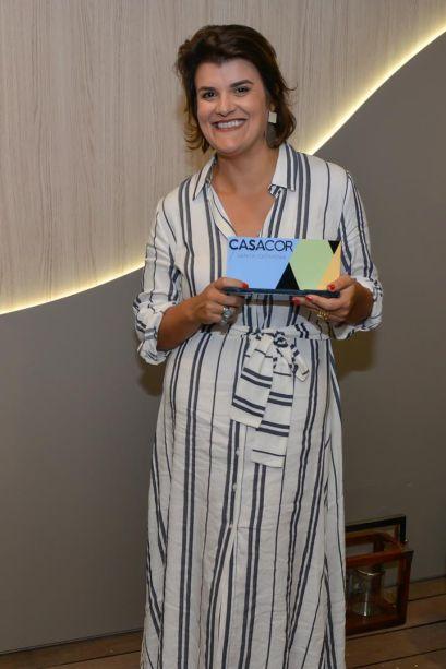 <strong>Ambiente mais Ousado</strong>: Banheiro Essencial DECA, de Juliana Pippi. Prêmio entregue pelo jurado Pedro Ariel Santana.