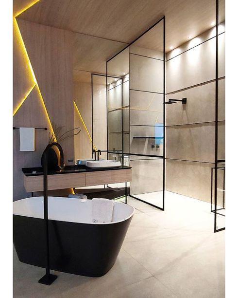 CASACOR Espírito Santo: banheiro do Loft do Motociclista, de Christian Vieira.