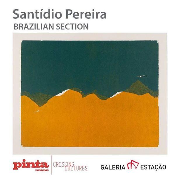 Exposição Santídio Pereira da Galeria Estação na Pinta Miami Art Fait.