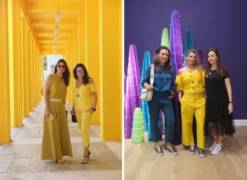 Grupo Uniflex no Design District (esquerda) e no Bass Museum (direita)