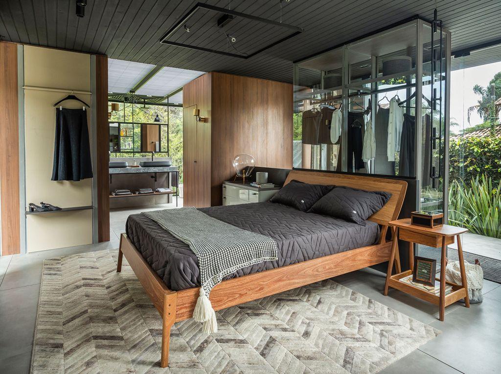 casa grigio wood frame