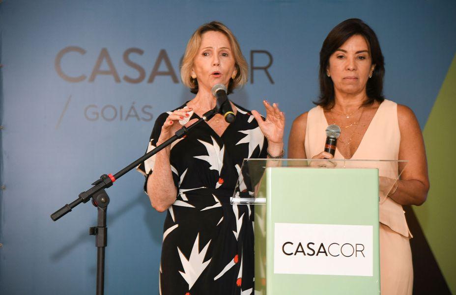 Sheila de Podestá e Eliane Martins, franqueadas da CASACOR Goiás