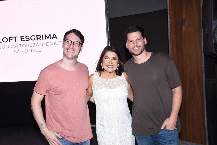 Júnior Torezani, Rita Rocio Tristão e Victor Sarcinelli
