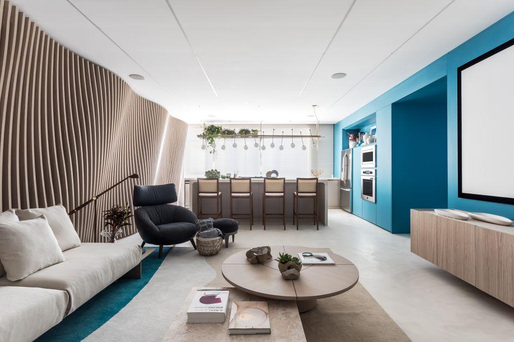 casacor; decoração; colorido; azul; sala de estar, Alessandra Gandolfi