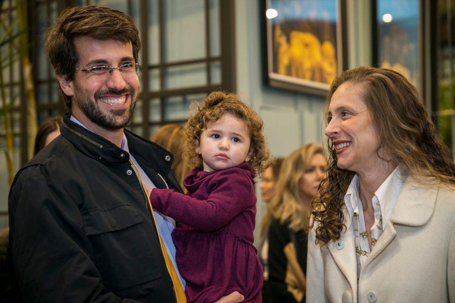 <span>Luiz Henrique Ferreira, sua filha e Zizi Calderari</span>