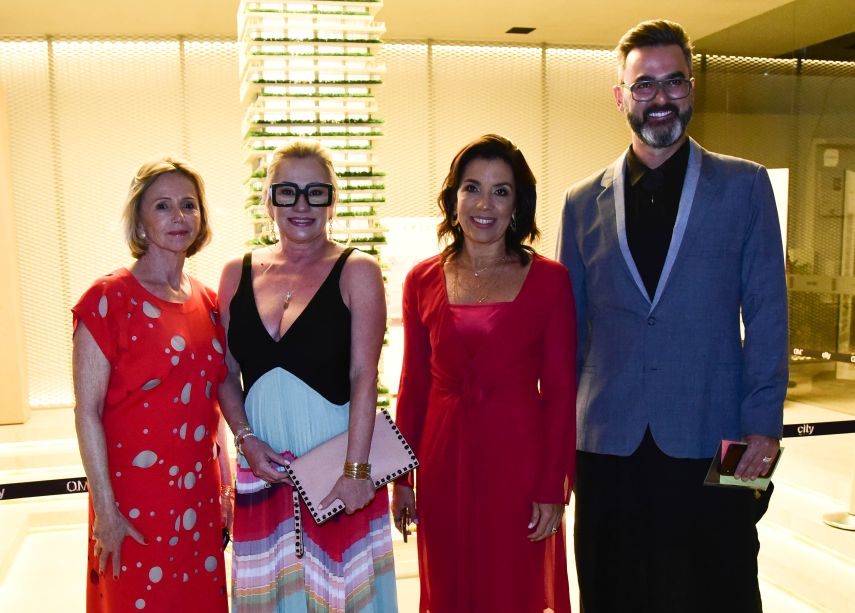 Sheila de Podestá, Ednara Braga, Eliane Martins e Leo Romano
