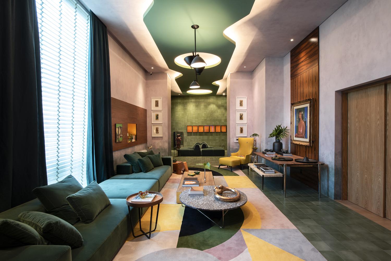 sofá verde naomi abe casacor sao paulo 2019 living do colecionador projeto