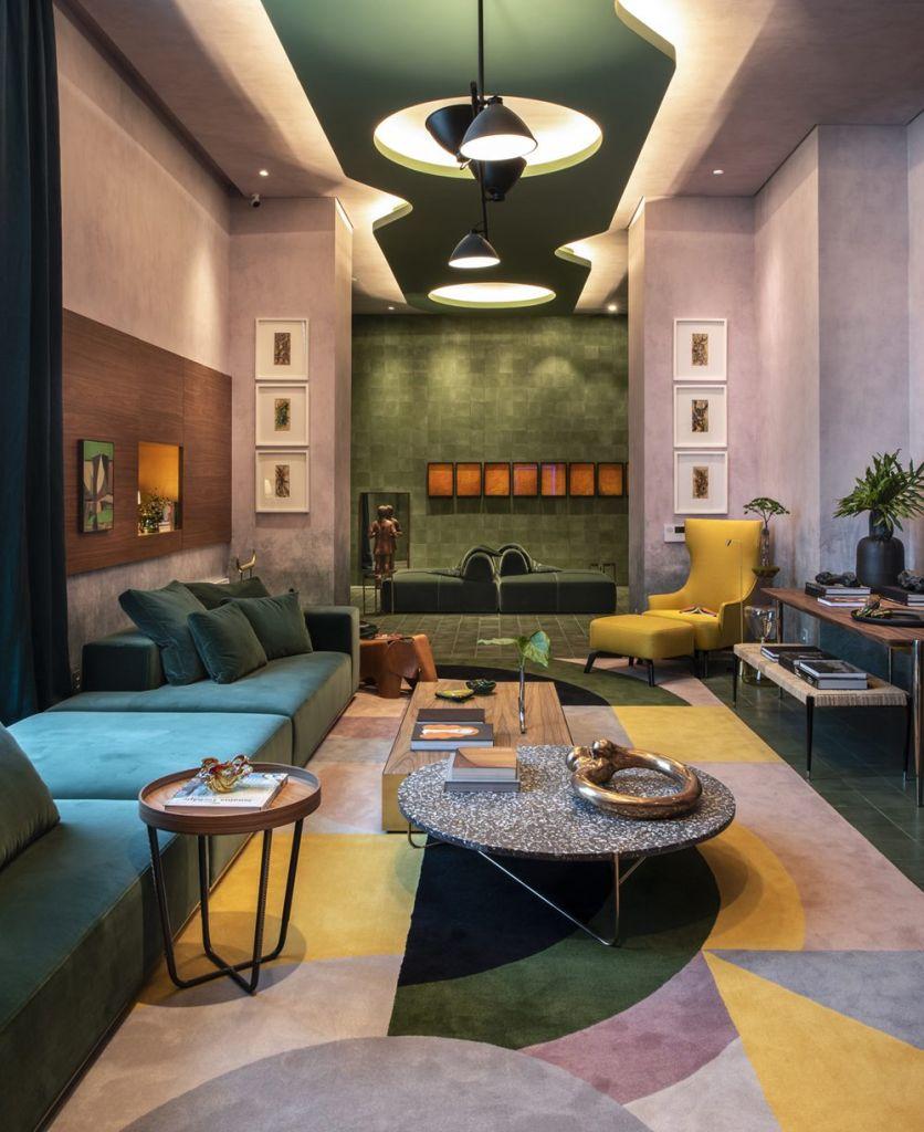 naomi abe living do colecionador casacor sao paulo 2019 granilite mesa design decoração ambientes interiores cores paleta de cores textura terrazzo