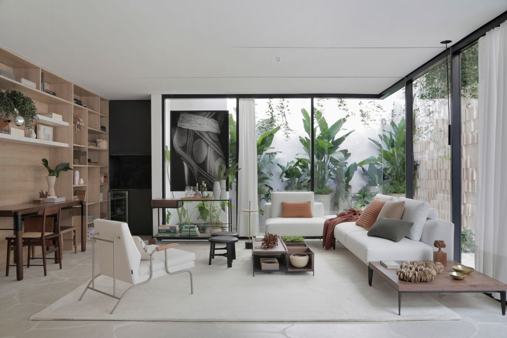 ticiane lima casacor sao paulo 2019 jardim de inverno decoração ambientes sala de estar jardim de inverno na sala paisagismo minimalismo