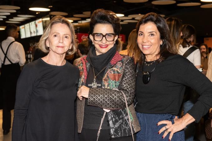 As empresárias da CASACOR Sheila Podestá, Moema Leão e Eliane Martins