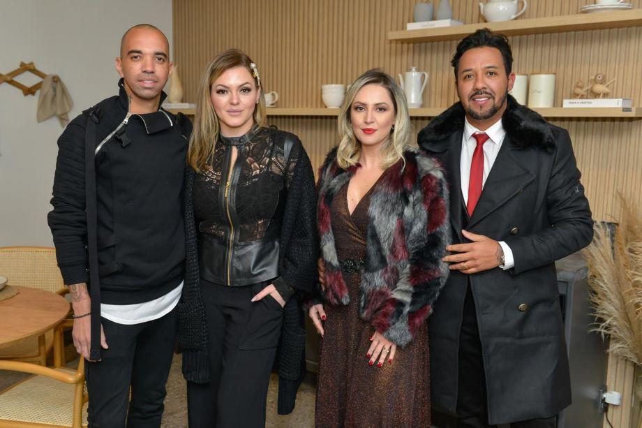 Diego Tardelli ,Linda Martins e Cris Araújo