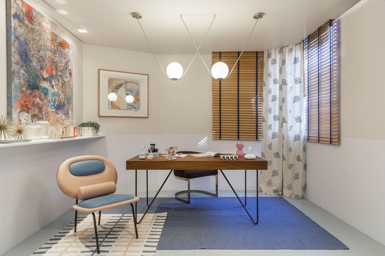 home office cores decoração delicada