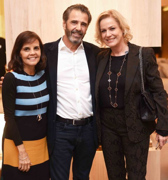 Angela Falcão, Claudio Pereira e Marcia Peltier