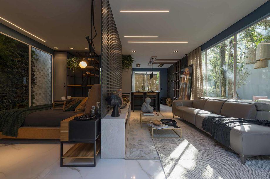 Loft Haven Home - Mike Hoffmann e Lia Herrmann. Vencedor na categoria Ambiente Destaque, eleito pelos escritórios participantes do elenco.
