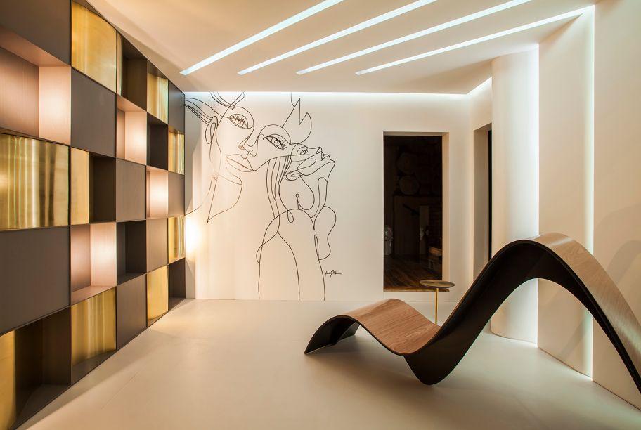 Hall de Entrada Conceito e Lavabo Tridimensional - Eduardo Castello Branco e Cibele Castello Branco. Vencedor na categoria Melhor Adequação ao Tema Tecnologia.