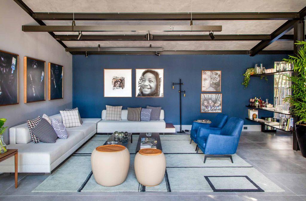 casacor rio 2019; poltrona; sala de estar; azul; cor