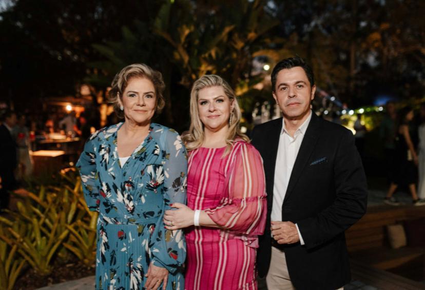 Helaine, Mariella e Fernando Batomarco