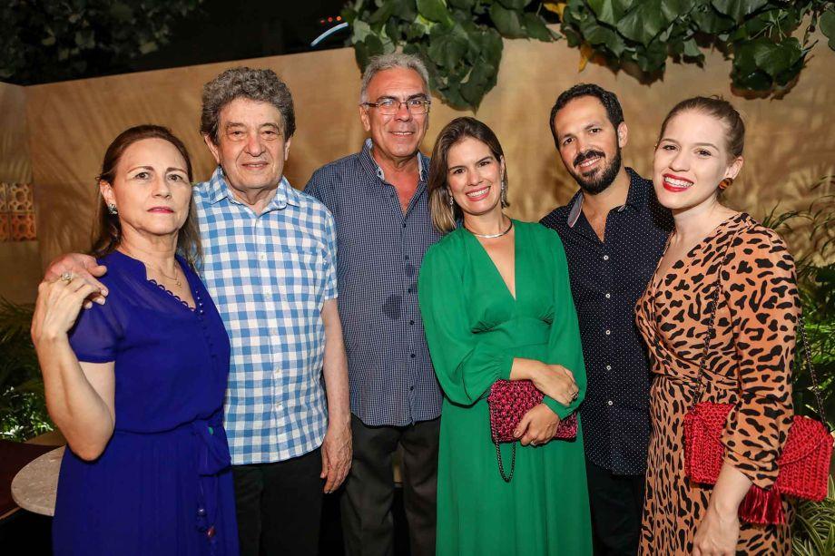 Silvia Parente, Fausto Nilo, Esdras Guimaraes, Elisa Parente, Pedro Esdras e Marina Parente