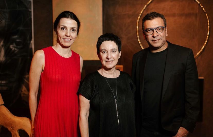 Cristina Bava, Livia Pedreira e Pedro Ariel