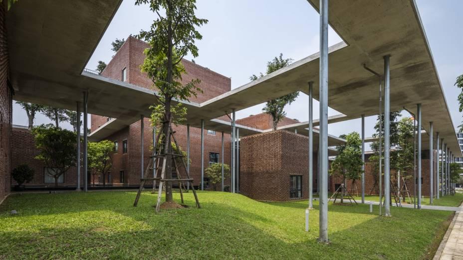 O prêmio Prédio Cívico do Ano foi entregue à Viettel Academy, do escritório Vo Trong Nghia Architects.