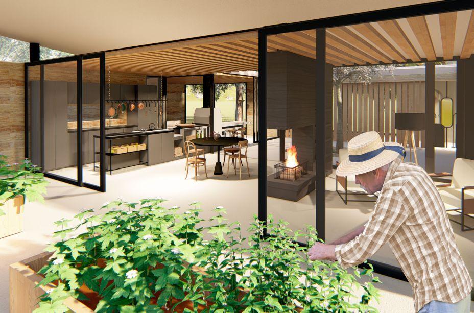 A vencedora do módulo Arquitetura, Gabriela Schmidt Pretzel, estudante da Universidade do Vale do Itajaí, projetou a Casa Taipa, uma moradia para idosos, com filosofia voltada para a sustentabilidade e que funciona como um refúgio para a melhor idade.