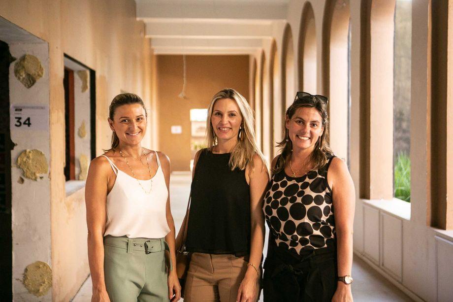 Karina Vescovi, Cristiani Morschbacher e Luciana Pestana.
