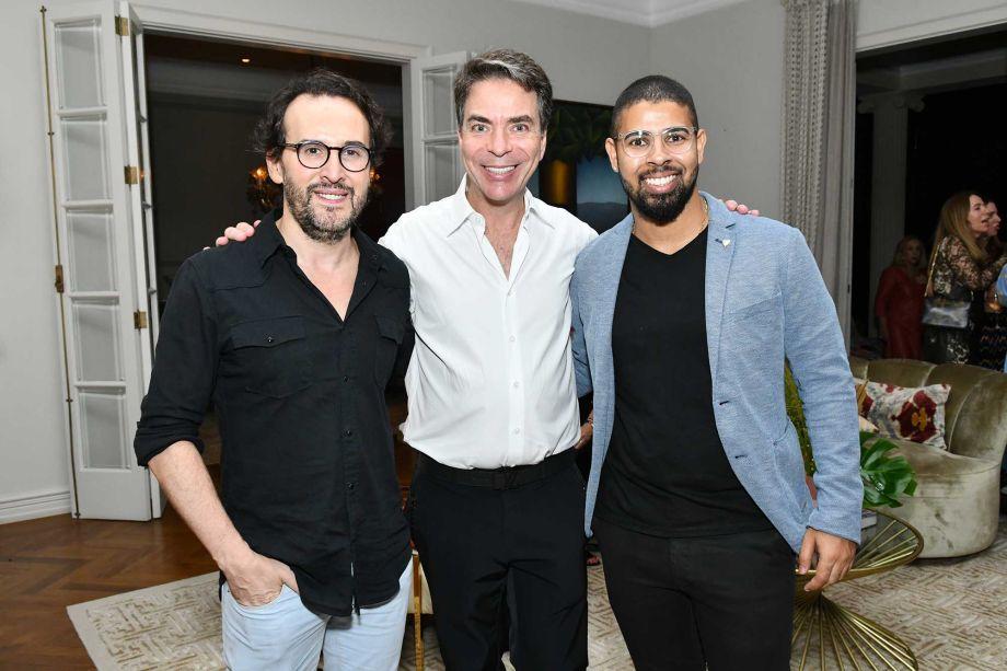 Marcos Proença, Marcelo Felmanas e Augusto Senna.