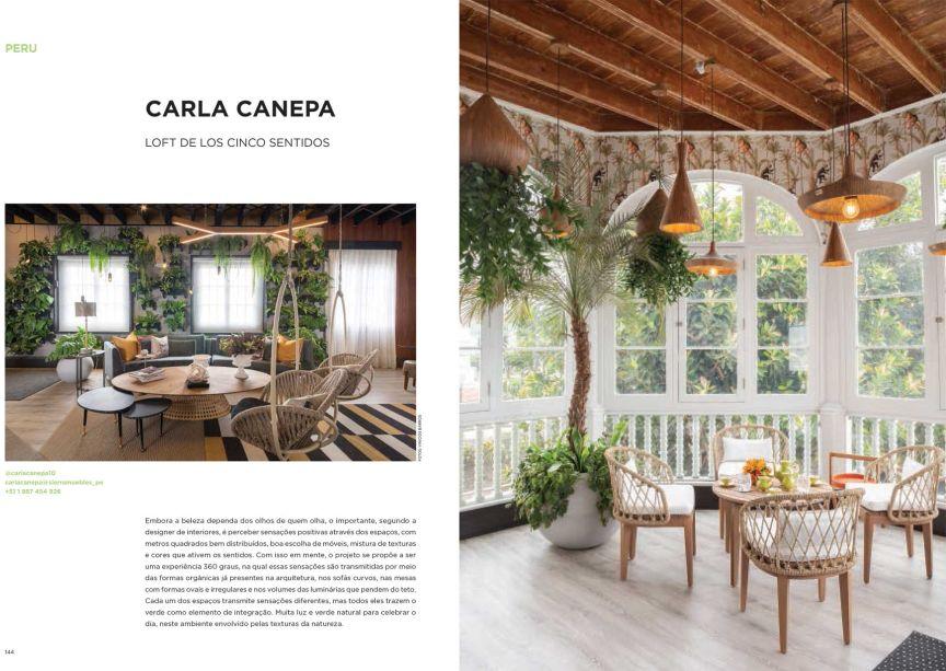 O Loft de los Cinco Sentidos, de Carla Capena para a CASACOR Peru, mixa texturas, formas orgânicas e muito verde para construir uma arquitetura sensorial.