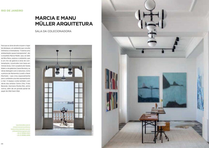 Minimalista, a Sala da Colecionadora deixa o destaque para as obras de arte. De Marcia e Manu Müller para a CASACOR Rio de Janeiro, o projeto é um mix de galeria e área de contemplação.