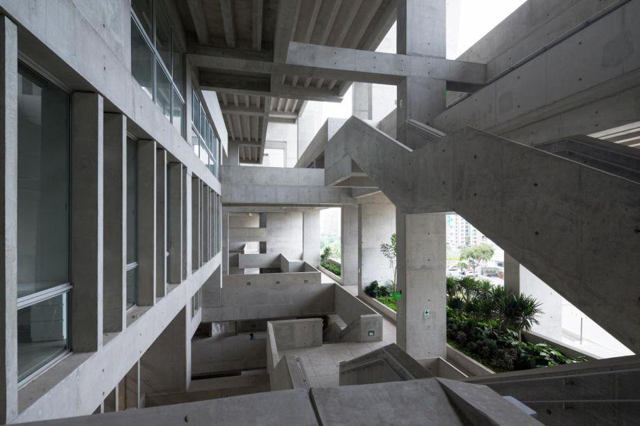 Campus da Universidade de Engenharia de Tecnologia (UTEC), em Lima, Peru.