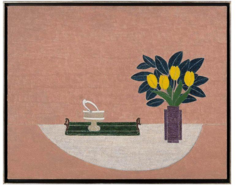 ELEONORE KOCH,<em>Tulips on Pink Backgound</em>, 1926, Galeria Marilia Razuk.