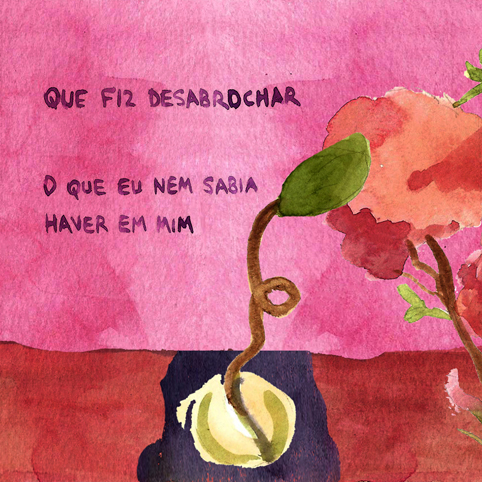 """Zine de Aline Lemos, 2020 - aquarela produzida pela artista e ilustradora para a exposição """"Amor em tempos modernos"""" na Casa Fiat de Cultura em Belo Horizonte."""