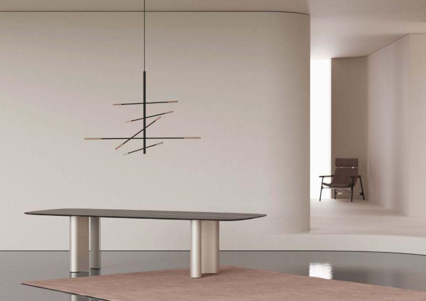 Desenhada por Alain Gilles, a Geometric Table é a novidade da para Bonaldo . O tampo da peça pode ser customizada com madeira maciça, mármore ou de cerâmica e a base permite diferentes acabamentos.