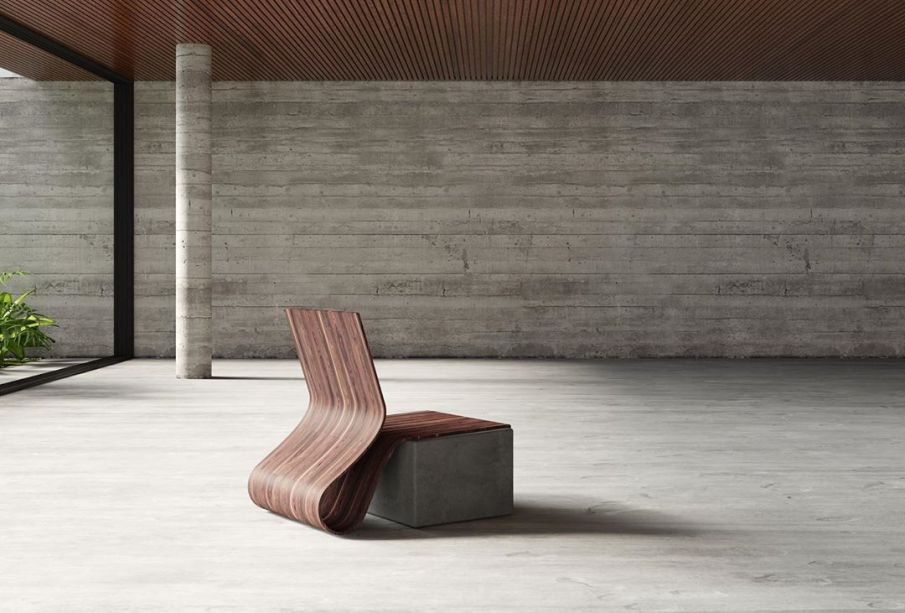 Cadeira FLW 1 - Fluid Wood de Ronald Sasson para La Galleria Paola Colombari.