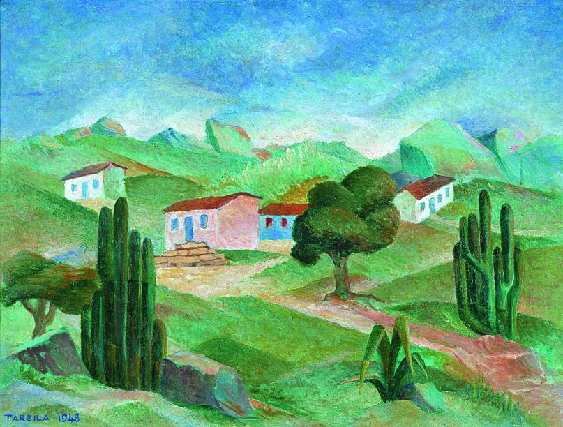 "Paisagem (1948) - Tarsila do Amaral<div id=""gtx-trans"" style=""position:absolute;left:409px;top:38px;""><div class=""gtx-trans-icon""></div></div>"