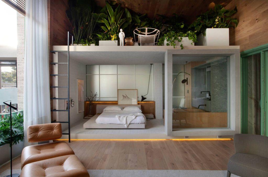 casacor sao paulo quarto cama madeira decoracao nildo jose loft ninho
