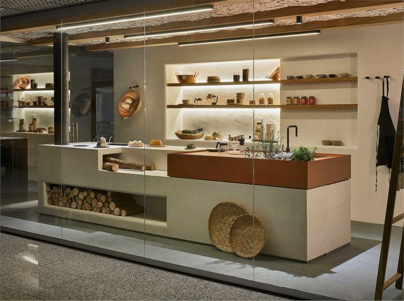 Cozinha do Barista, por Cynthia Silva e Atamar Lorrani e Filipe Castro. do Estúdio Mineral para o Janelas Minas Gerais.