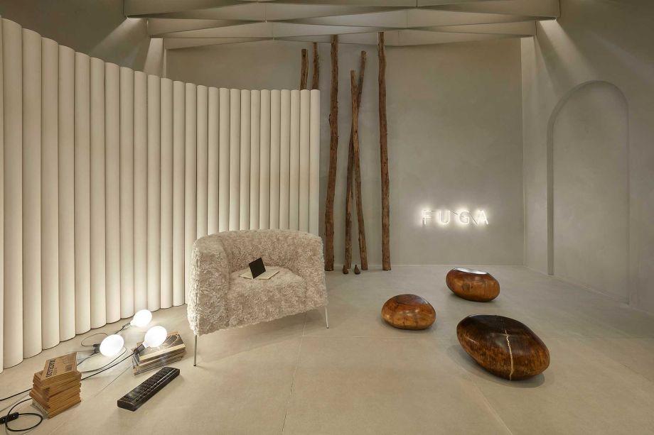 Hall Neolítico, por Roger Lages para o Janelas CASACOR Minas Gerais.