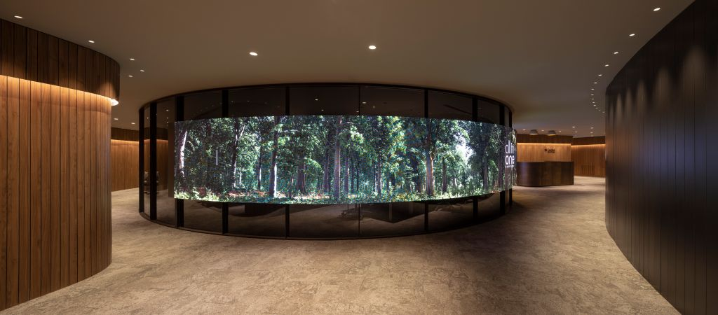 um dos ambientes emblemáticos do centro financeiro em Barcelona.