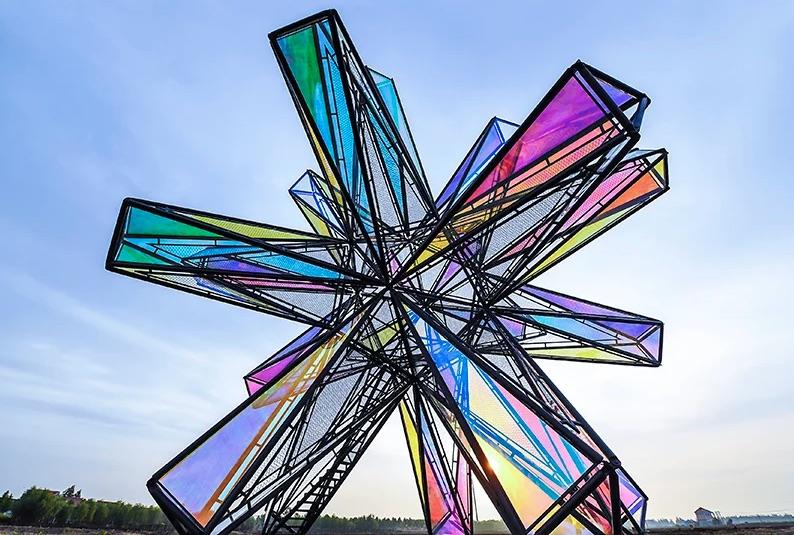 Estrutura Pop Star em Shangai, China.