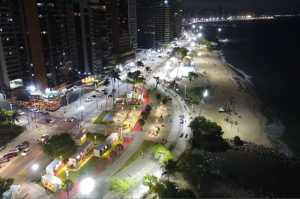 Foto tirada por um Drone. É possível observar a exposição da Janelas CASACOR Ceará abaixo.