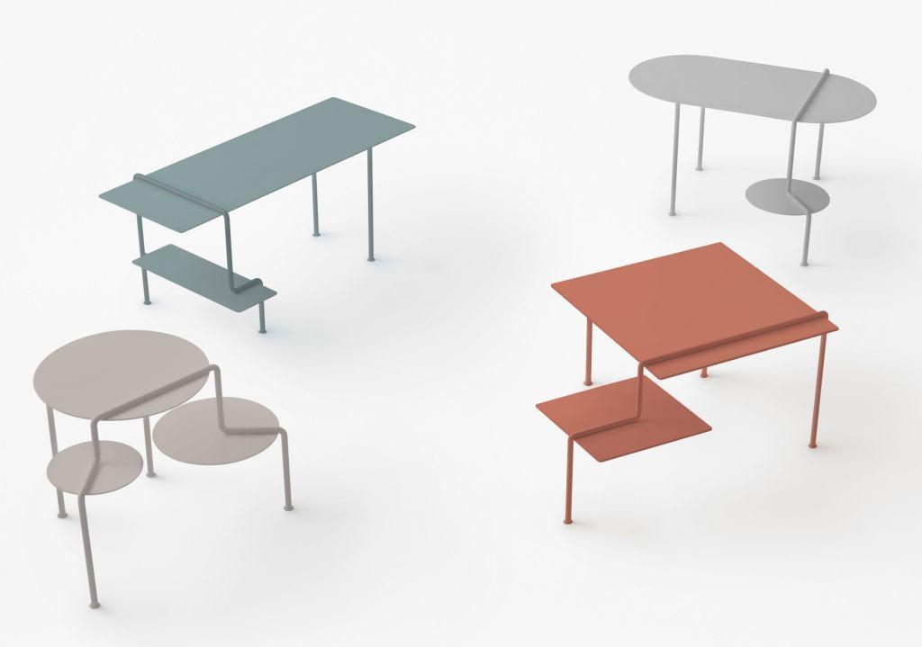 mesa em cascata por Nendo Design