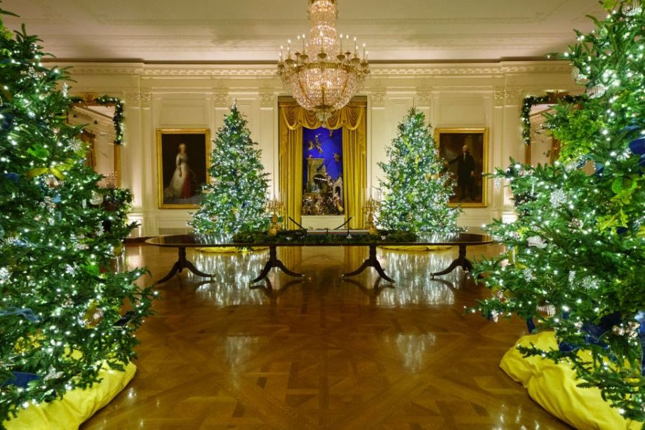 Profissionais da saúde e movimento sufragista foram homenageados na decoração de Natal da Casa Branca