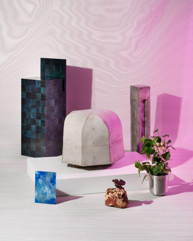 Seis designs do projeto feitos a partir de resíduos industriais