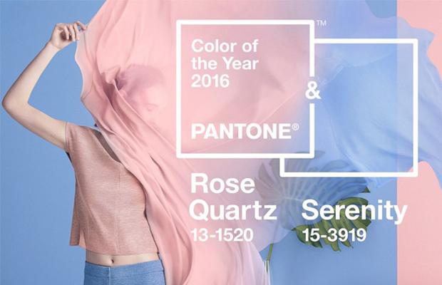 PANTONE 15-3919 Serenity e PANTONE 13-1520 Rose Quartz: coincidindo com movimentos sociais em relação à igualdade de gênero e fluidez, pela primeira vez, foi escolhida uma mistura de duas cores. Juntas, elas evocam o equilíbrio entre um rosa acolhedor e um azul claro mais frio e tranquilo, refletindo a conexão entre o bem-estar e uma calma sensação de ordem e paz.