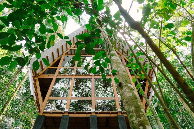 Visão debaixo da Casa dos Macacos em Paraty