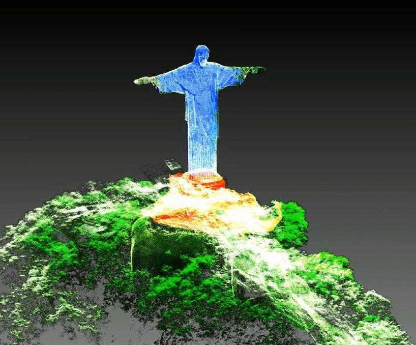 Mais de 180 milhões de pontos de dados foram capturados, produzindo um modelo digital do monumento que abraça a cidade do Rio de Janeiro.