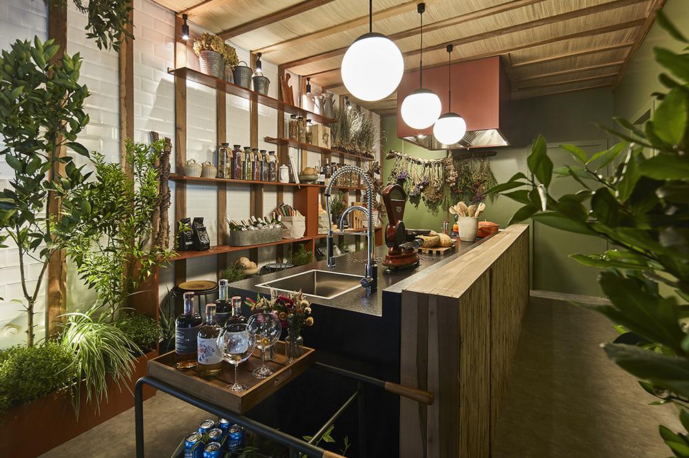 Projetos de cozinha com plantas na decoração
