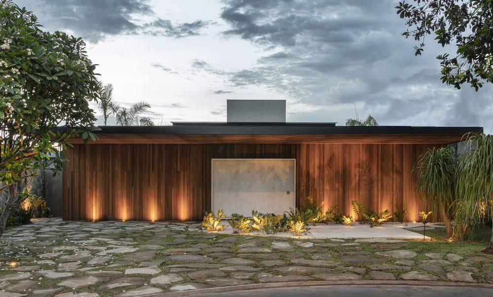 casa q04l63 mf plus arquitetos projeto casa construção casa de praia madeira casa de veraneio arquitetura decoração interiores são paulo brasil