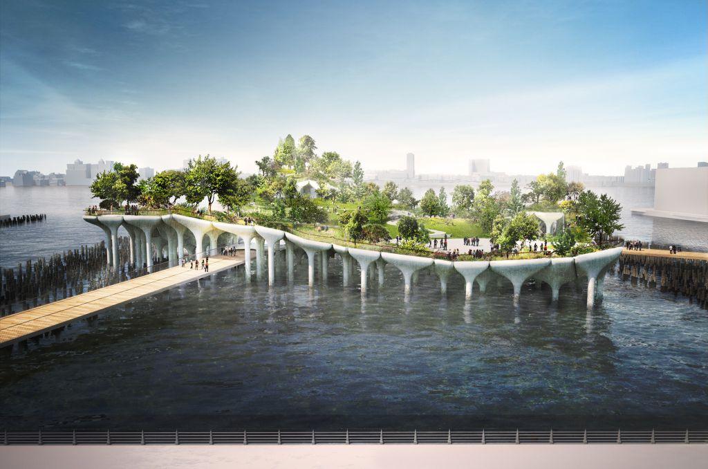 prédios mais aguardados de 2021 little island hudson river parque